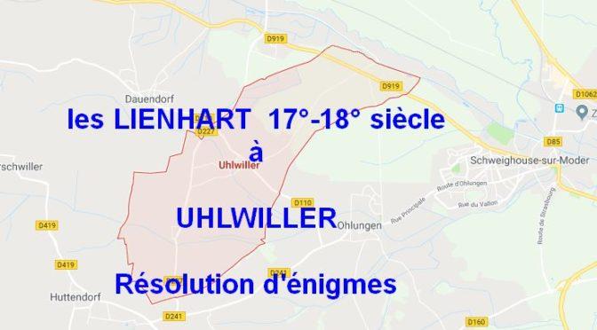 Grand débat sur les LIENHART de Uhlwiller